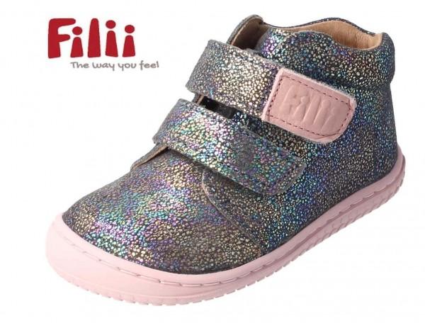 Filii CHAMELIION Glitter rosa WEIT Mädchenschuhe mit Klett