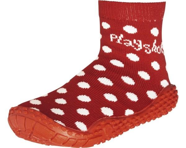 Aqua-Socken rot mit Pünktchen Barfußsocken