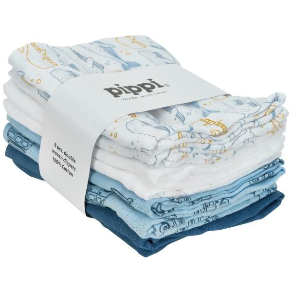 Pippi Stoffwindeln Wale & Autos 8er Pack