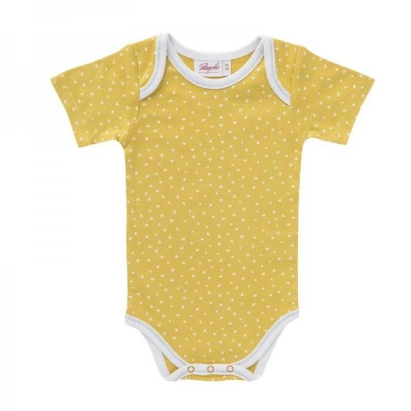 People Wear Organic Kurzarmbody gelb Dreiecke
