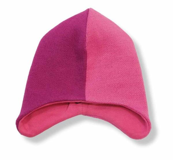 Minymo Wintermütze Strickmütze Thunder50 pink / fuchsia
