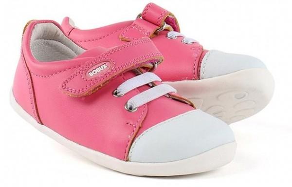 Bobux Step Up Lauflernschuhe Scribble fuchsia pink /weiß