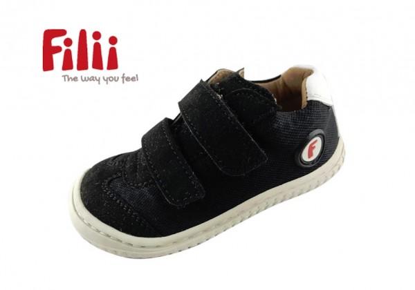 Filii Sneaker LEGUAN Barfußschuhe vegan micro black