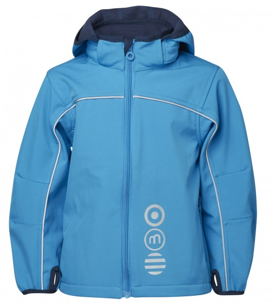 Minymo Jungen Softshelljacke Basic45 clear blue