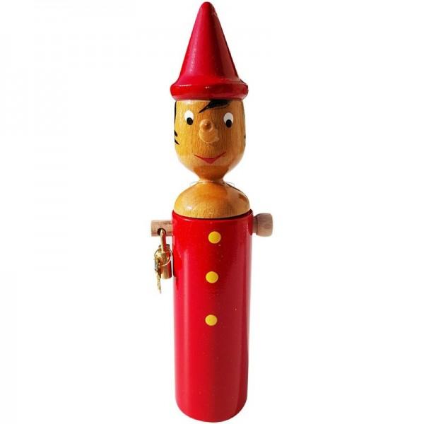 Pinocchio Spardose aus Holz Sparbüchse