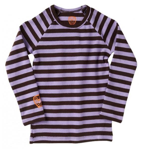 Ej sikke lej Kinder Langarmshirt Basic striped violett