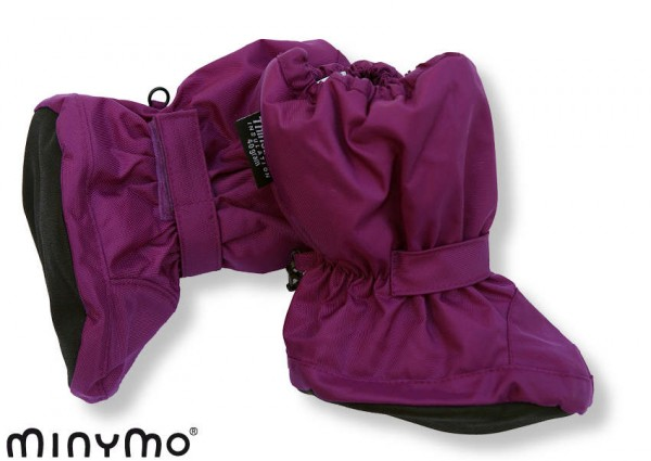 Minymo Nylon Thermo Booties - gefütterte Stiefelchen Vic60 electric lila