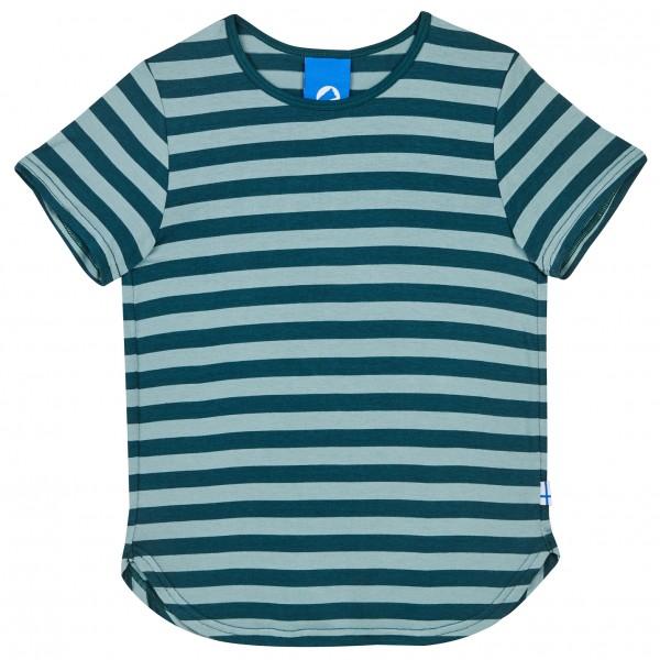 Finkid Maalari Blockstreifen T-Shirt deep teal / trellis
