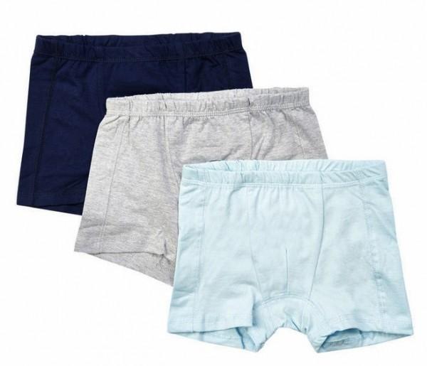 Minymo Jungen Boxershorts Unterhosen 3er Pack Basic61 navy/grau/sky