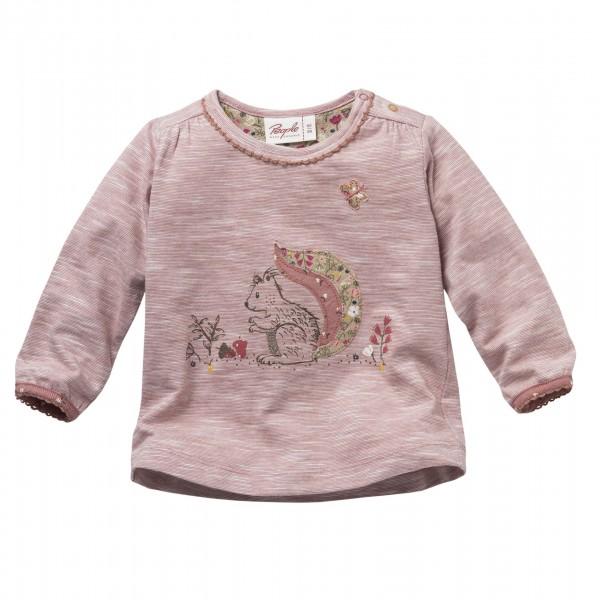 People wear Organic Langarm-Shirt Eichhörnchen rosenholz melange